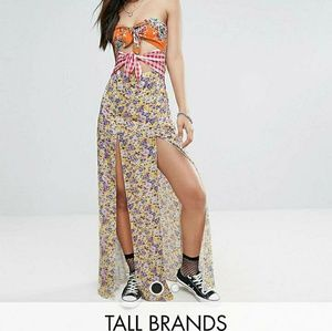 Jaded Londed TALL Mix print dress